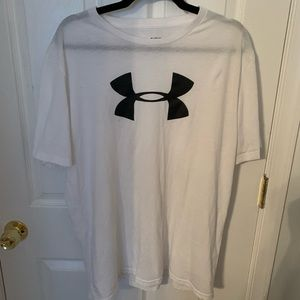 Men's XL white under armor tee